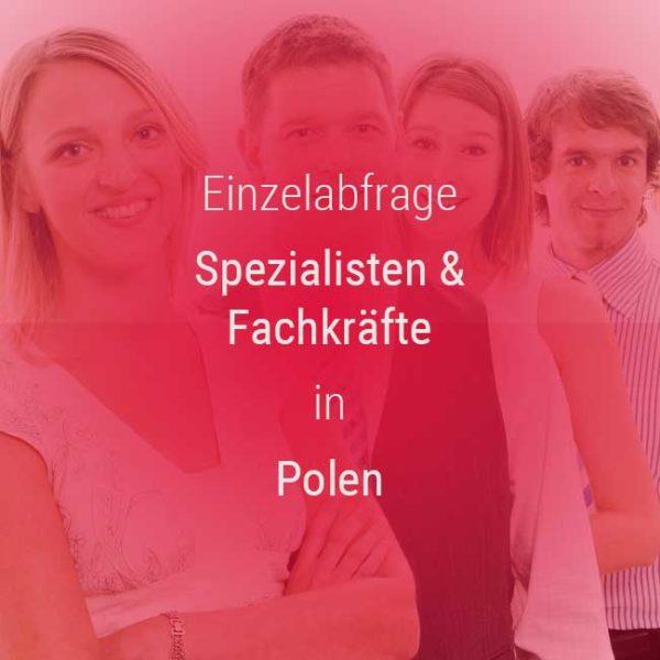 Einzelner Gehaltsvergleich - Fachkräfte & Spezialisten Polen