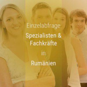 Einzelner Gehaltsvergleich - Fachkräfte & Spezialisten Rumänien