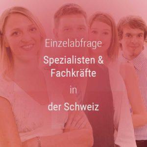 Einzelner Gehaltsvergleich - Fachkräfte & Spezialisten Schweiz