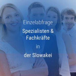 Einzelner Gehaltsvergleich - Fachkräfte & Spezialisten Slowakei