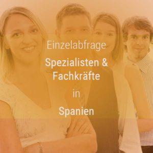 Einzelner Gehaltsvergleich - Fachkräfte & Spezialisten Spanien