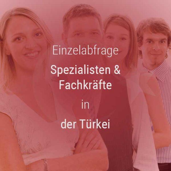 Einzelner Gehaltsvergleich - Fachkräfte & Spezialisten Türkei