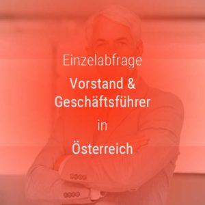 Einzelner Gehatsvergleich Geschäftsführer & Vorstände in Österreich