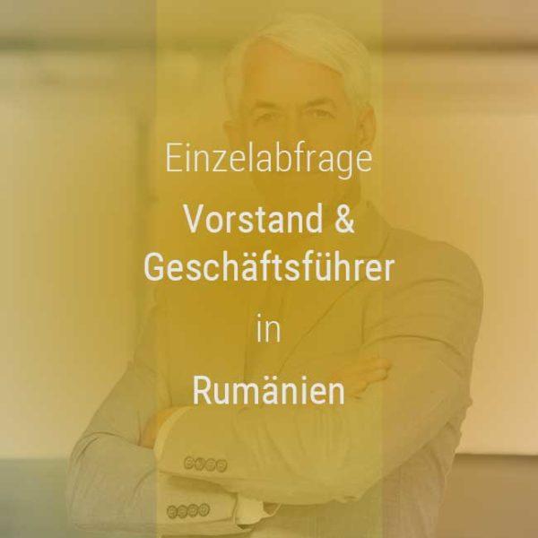 Einzelner Gehaltsvergleich - Vorstand & Geschäftsführer Rumänien