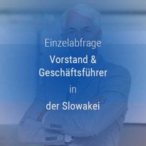 Einzelner Gehaltsvergleich - Vorstand & Geschäftsführer Slowakei