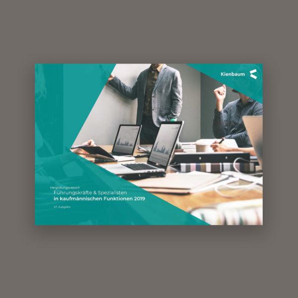 Gehalt Buchhaltung, Finanzbteilung, Controlling, HR Berufe 2019 - Kienbaum Gehaltsreport Titelbild