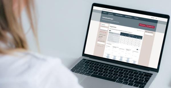 Gehaltsvergleich für verschiedene berufe mit Hilfe einer Gehaltsdatenbank